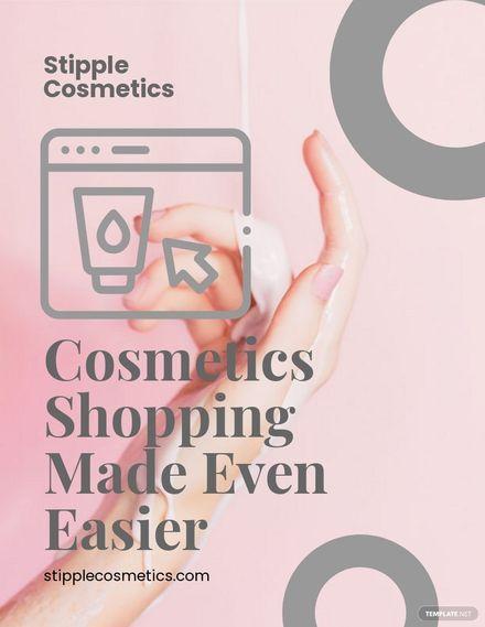 Online Cosmetics Store Flyer Template.jpe
