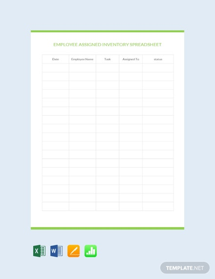 free employee assigned inventory spreadsheet template download 48
