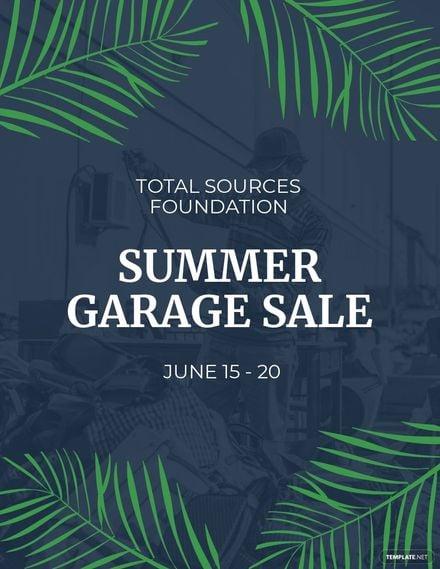 Summer Garage Sale Flyer Template.jpe