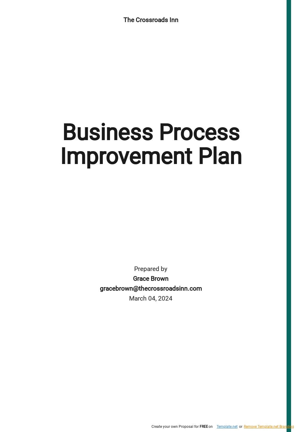 Business Process Improvement Plan Template.jpe