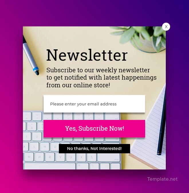 free website subscription pop up template in adobe photoshop. Black Bedroom Furniture Sets. Home Design Ideas