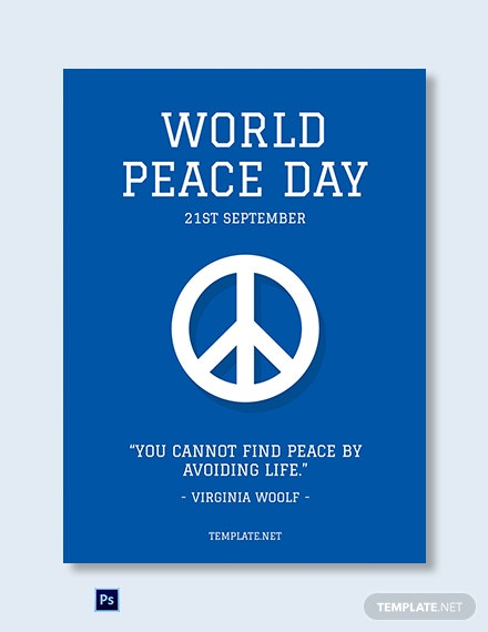 Free International Peace Day Greeting Card