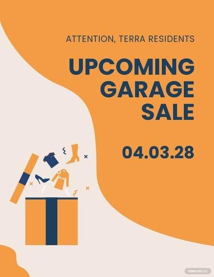 Garage Sale Announcement Flyer Template.jpe