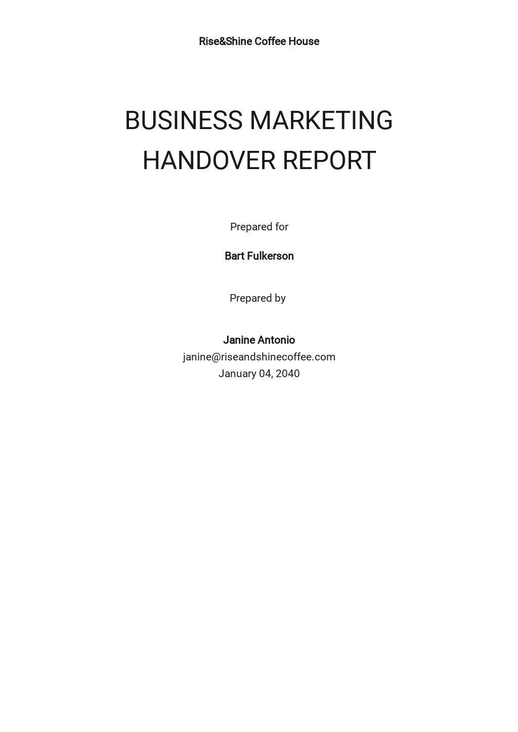 Free Business Handover Report.jpe