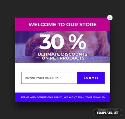 Free Website Welcome Pop-up Template