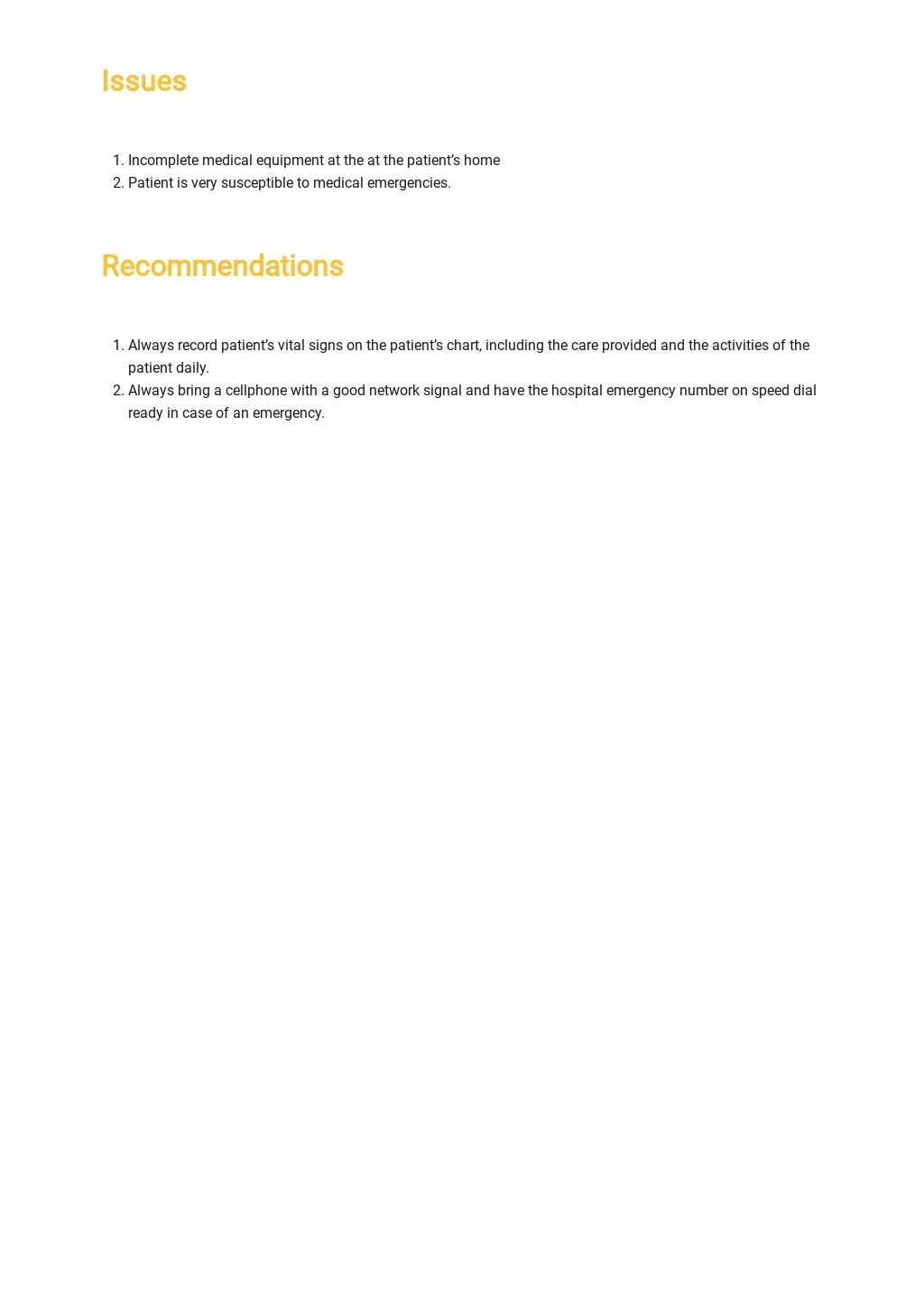 Free Nurse Handover Report Template 3.jpe