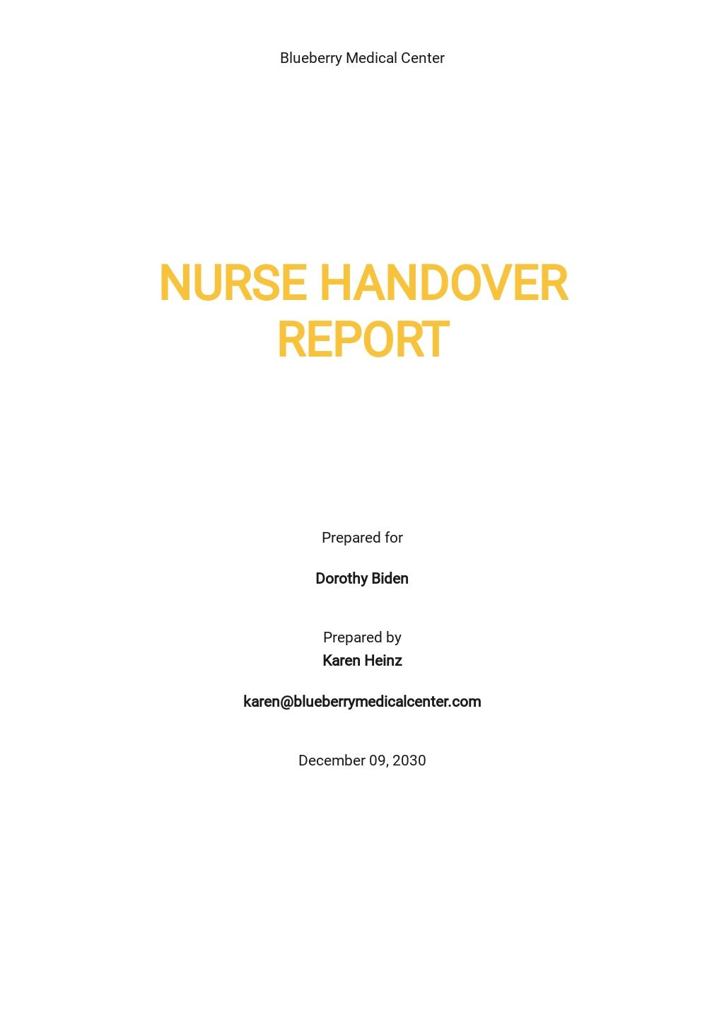 Free Nurse Handover Report Template.jpe