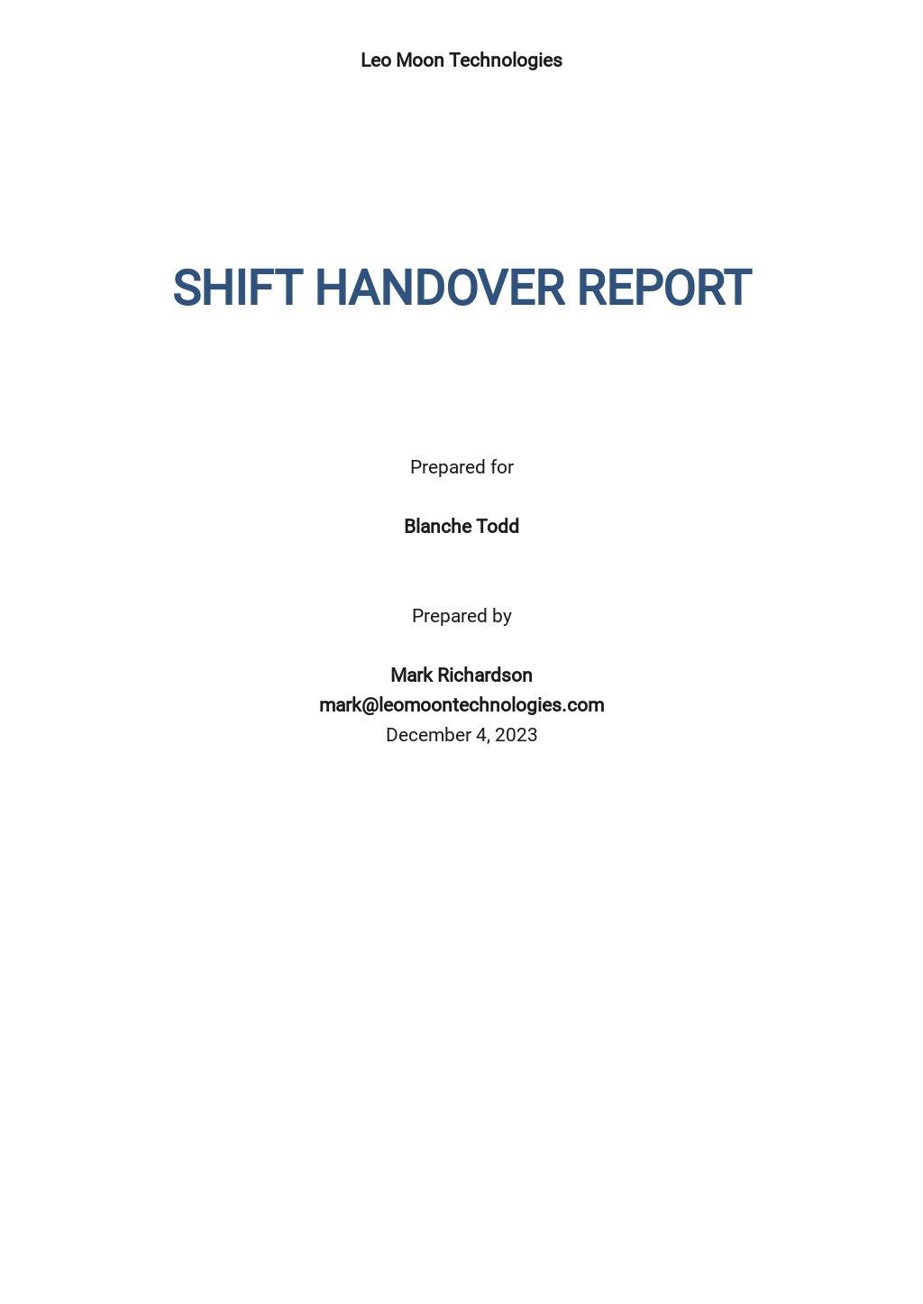 Free Shift Handover Report Template.jpe