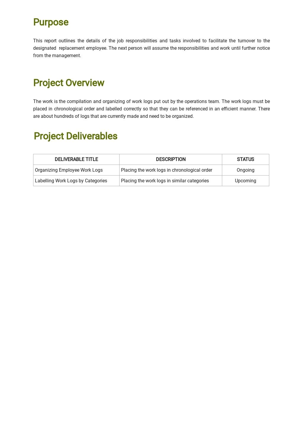 Free Work Handover Report Template 1.jpe