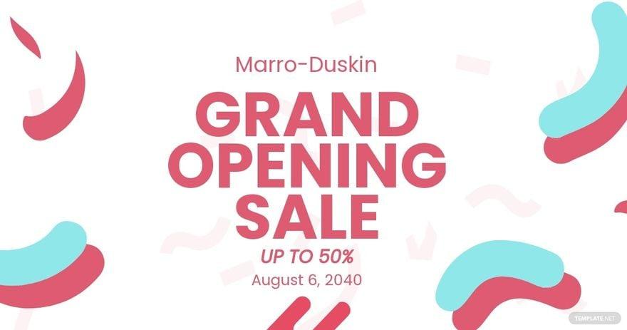 Grand Opening Sale Facebook Post Template.jpe