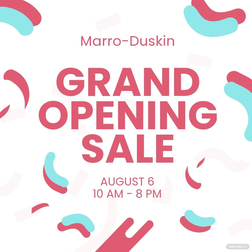 Grand Opening Sale Instagram Post Template.jpe