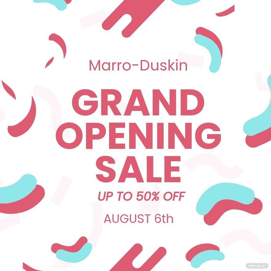 Grand Opening Sale Linkedin Post Template.jpe