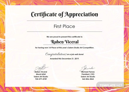 free appreciation certificate template download 200 certificates in psd illustrator indesign word publisher pages templatenet - Free Appreciation Certificate Templates