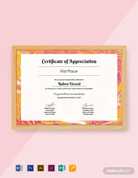 Free Appreciation Certificate Template