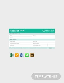 Free Simple Property Rent Receipt Template