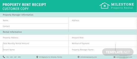 Free Property Rent Receipt Template