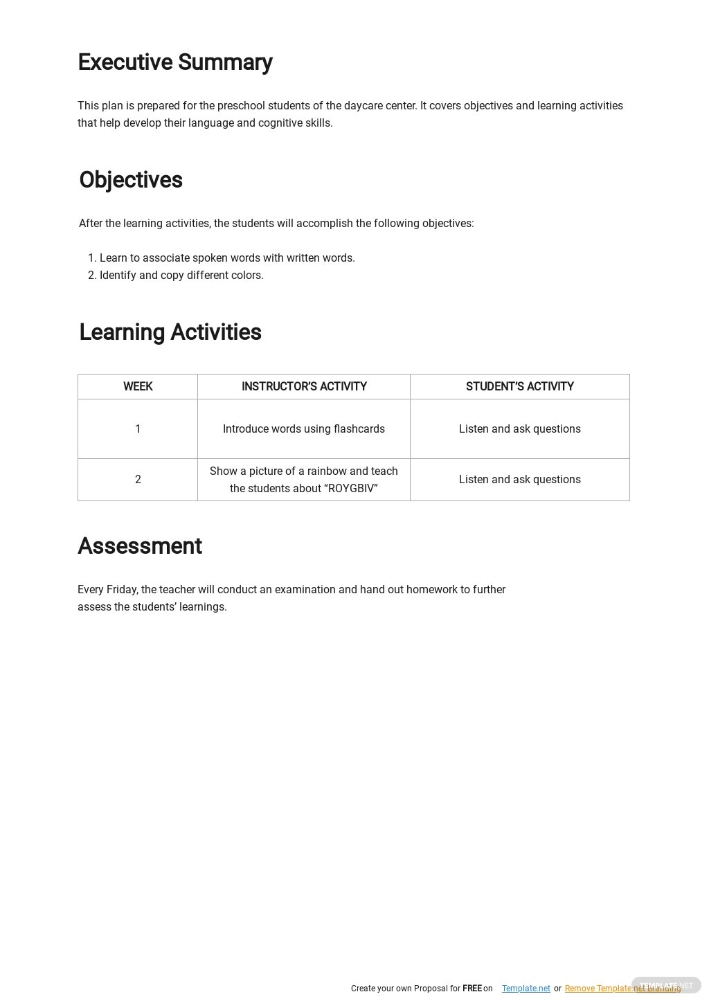 Free Blank Daycare Lesson Plan Template 1.jpe
