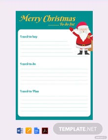 Free Christmas Wish List