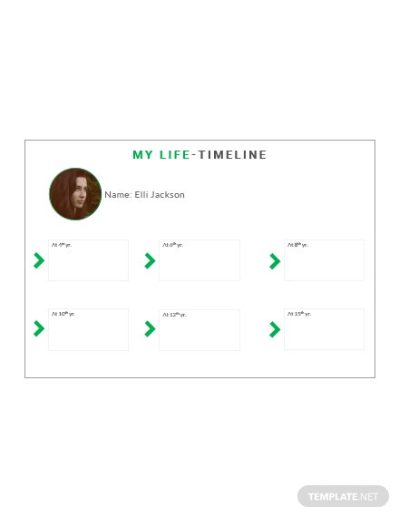 blank life timeline template in microsoft word  apple