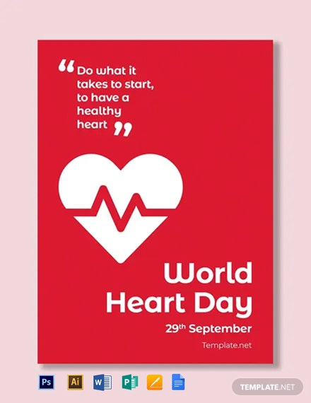 Free World Heart Day Greeting Card