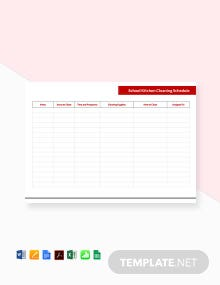 Free School Kitchen Cleaning Schedule Template