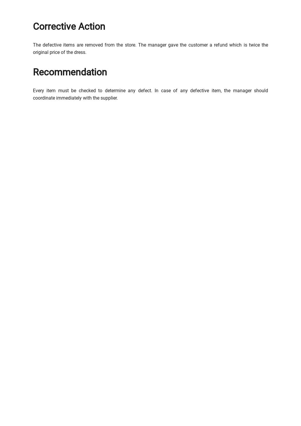 Free Customer Non Conformance Report Template 2.jpe