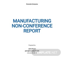 Free Manufacturing Non-Conformance Report Template