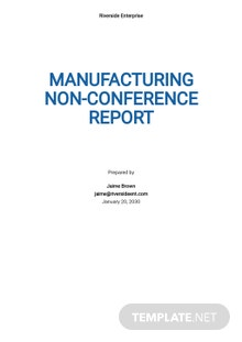 Manufacturing Non-Conformance Report Template