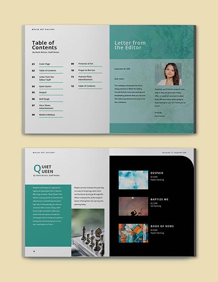 Free Simple Art Catalogue Template Editable