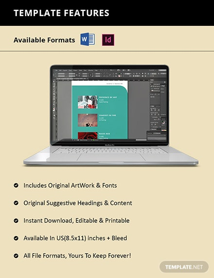 Free Simple Art Catalogue Template Format