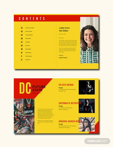 Free Comic Book Catalog Template
