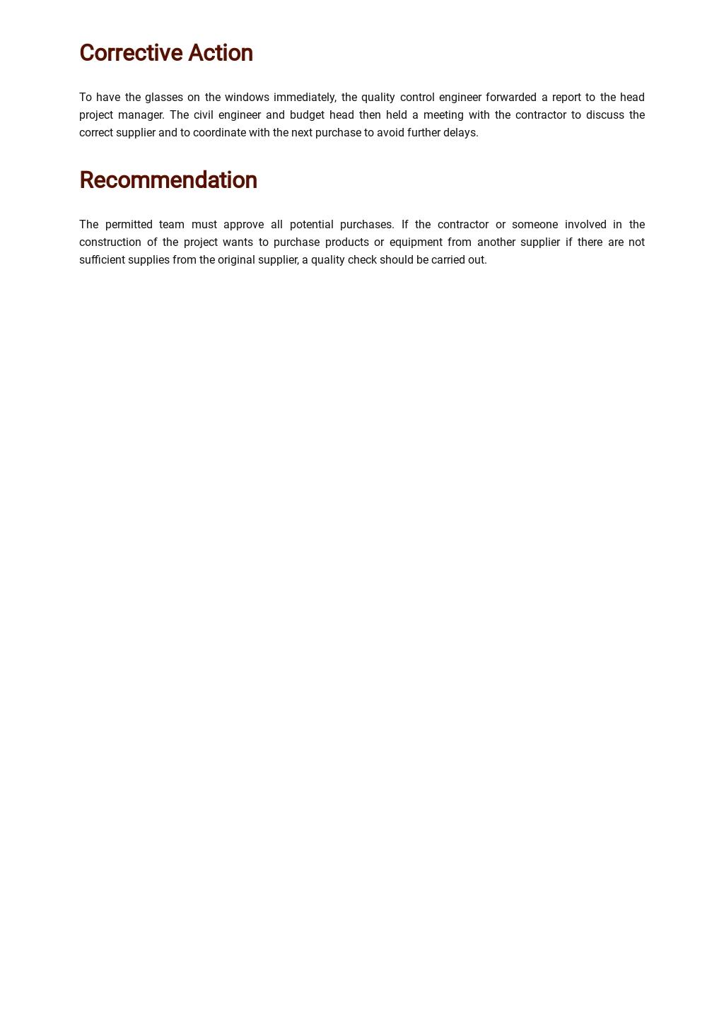 Free Product Non Conformance Report Template 2.jpe