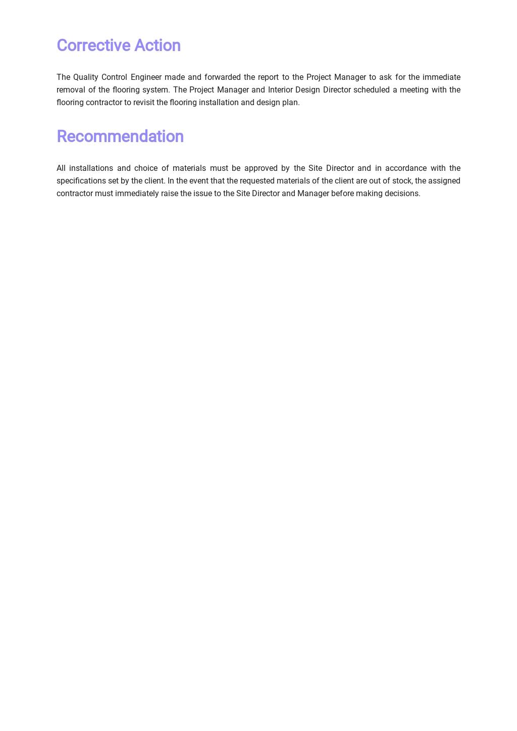 Free Simple Non Conformance Report Template 2.jpe