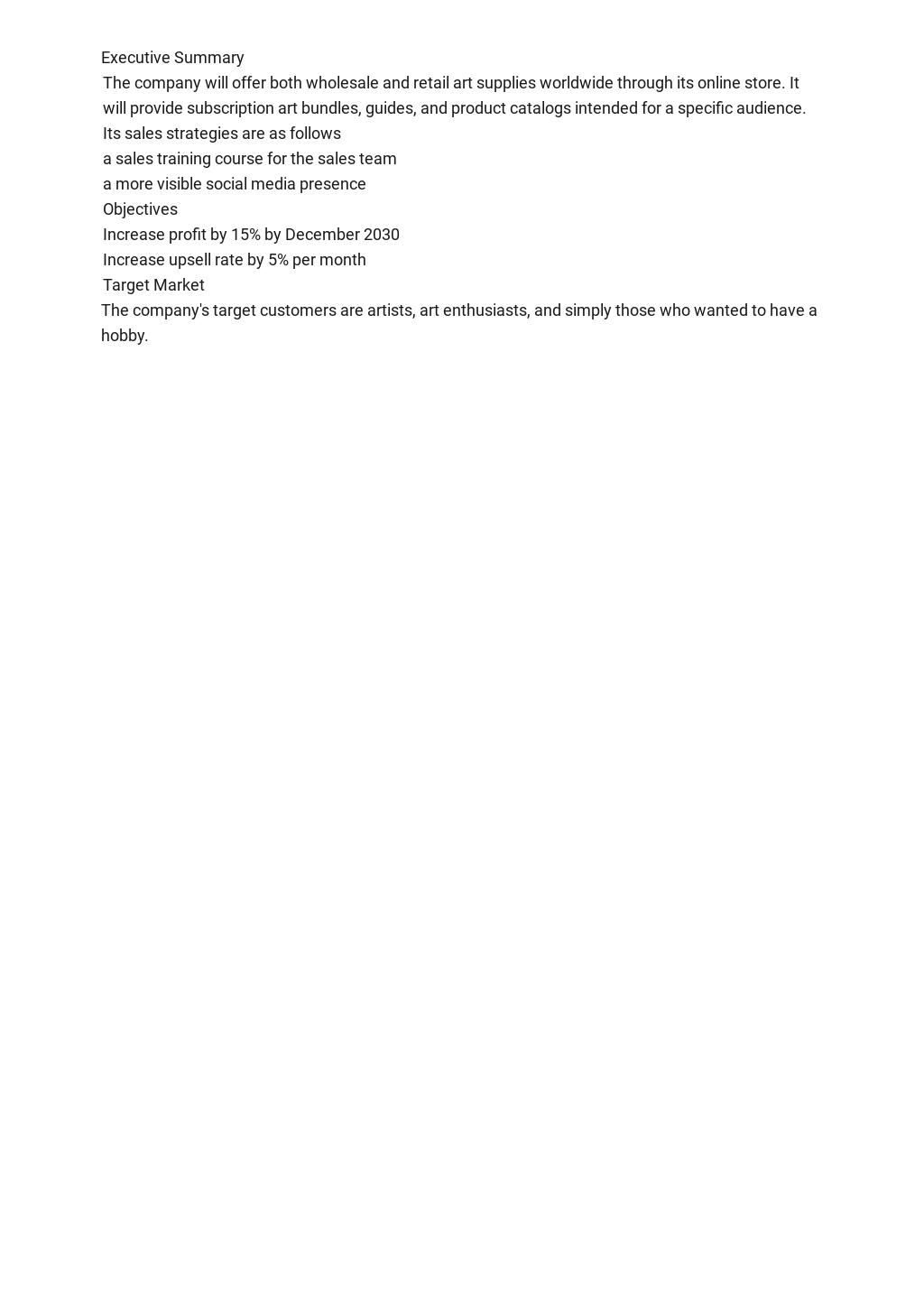 Free Operational Sales plan Template 1.jpe