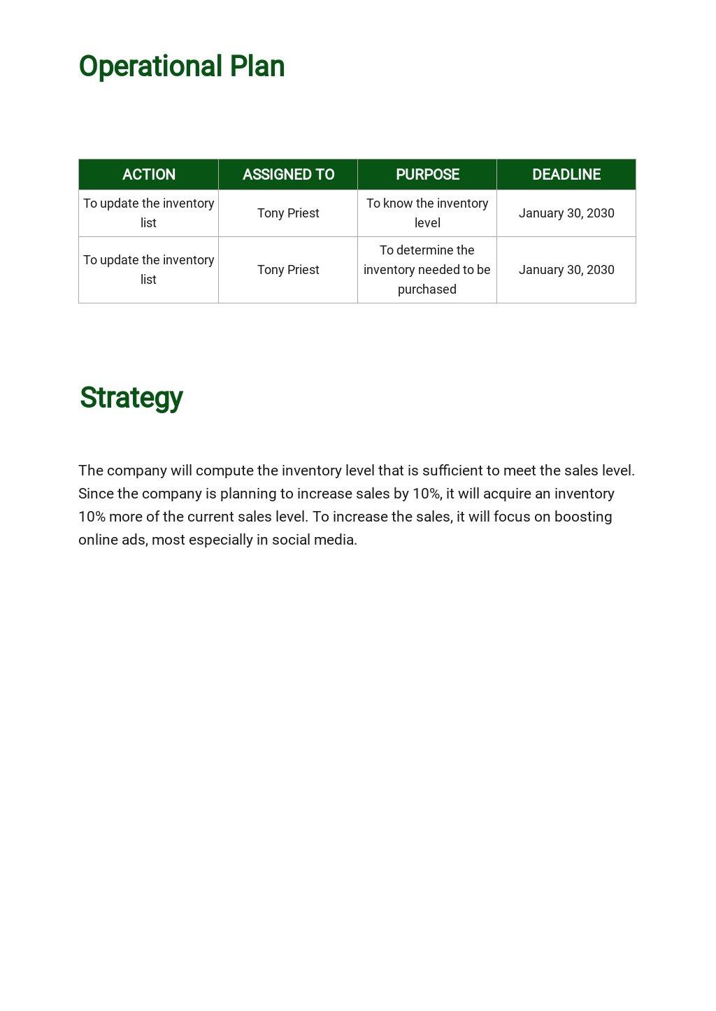 Free Operational Plan Example 2.jpe
