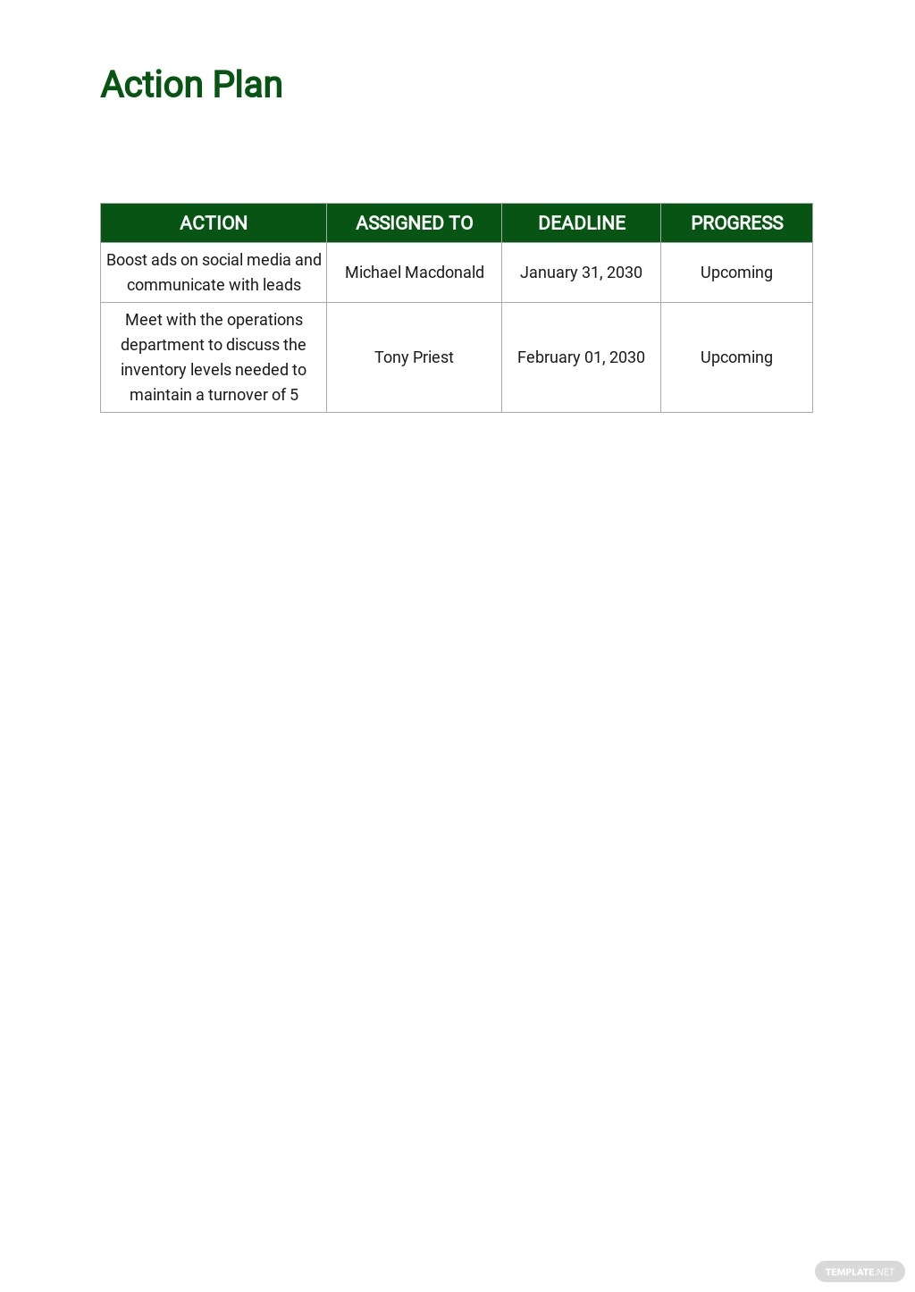 Free Operational Plan Example 4.jpe