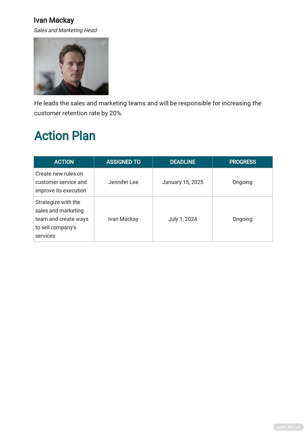 Free Operational Plan For Project report Template 3.jpe