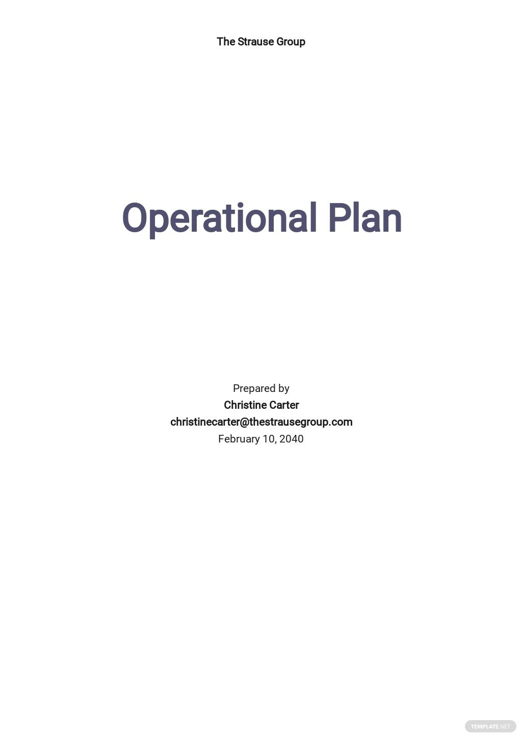 Operational Plan Initiatives Template