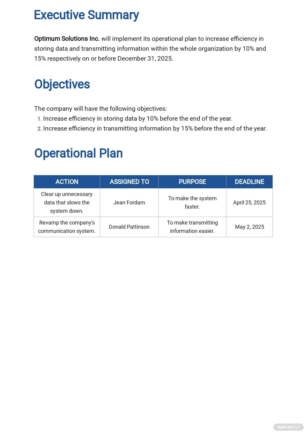 Free Operational System Plan Template 1.jpe