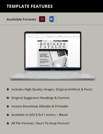 Free Simple Business Catalog Template Design