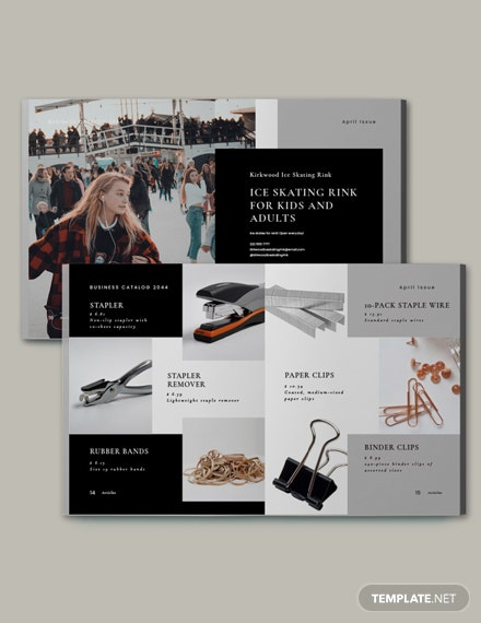 Free Simple Business Catalog Template Format