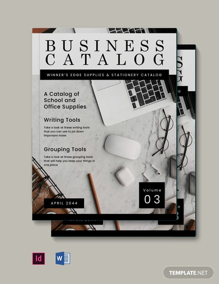 Free Simple Business Catalog Template