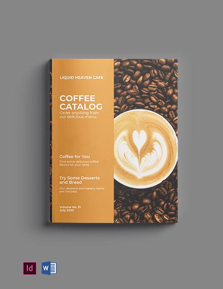 Free Coffee Company Catalog Template