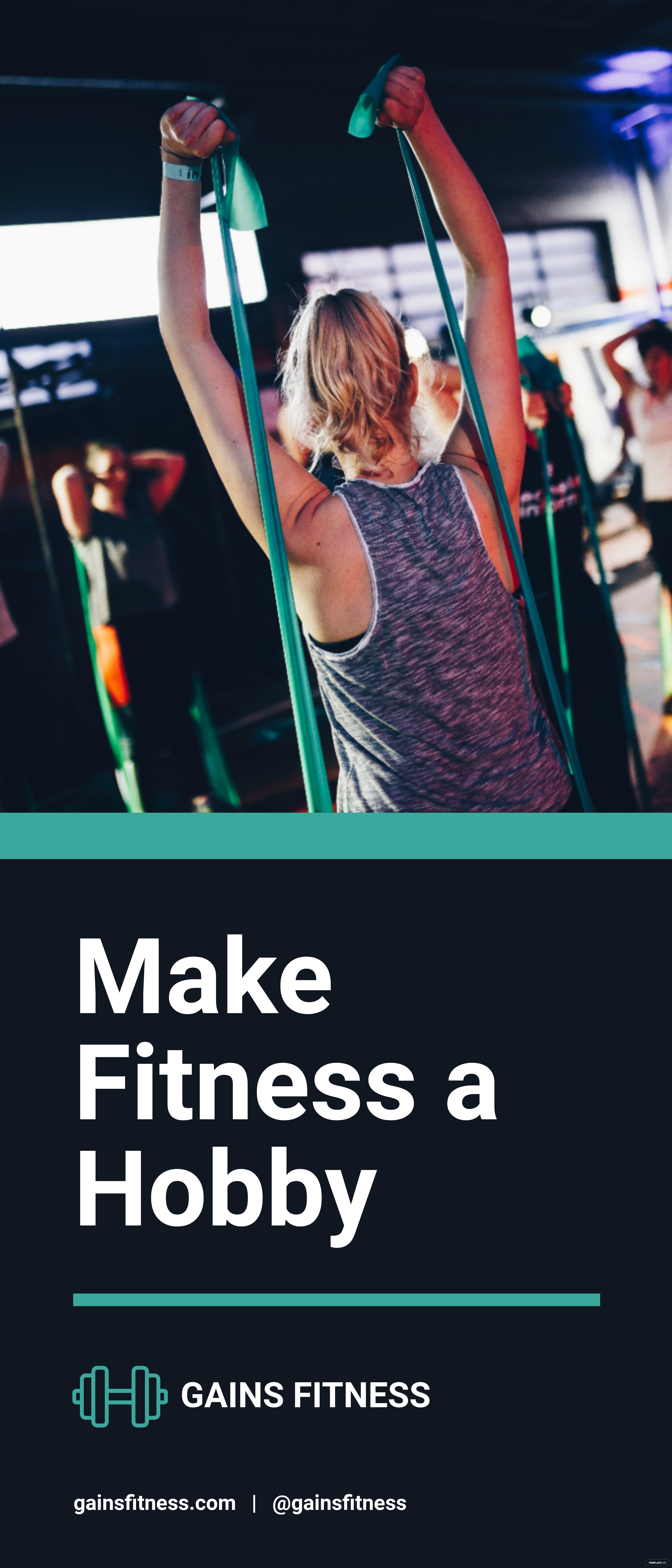 Fitness Gym Roll Up Banner Template.jpe