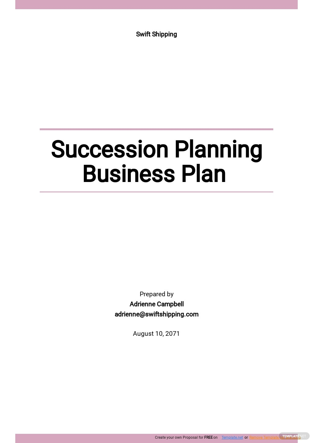 Succession Planning Business Plan Template .jpe