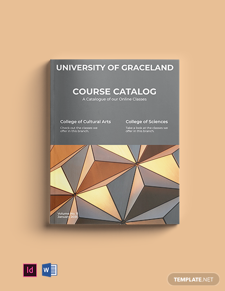 Free Course Catalog Layout Template