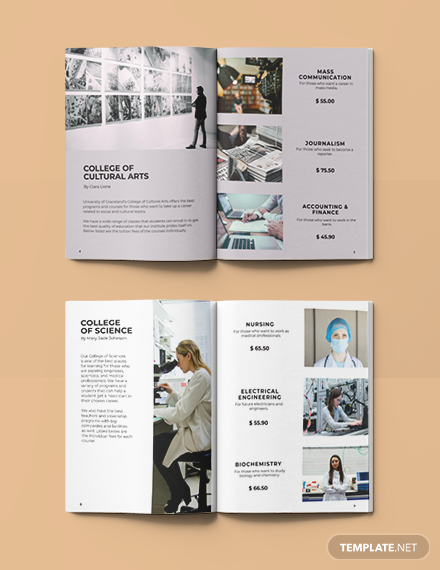 Free Sample Course Catalog Layout