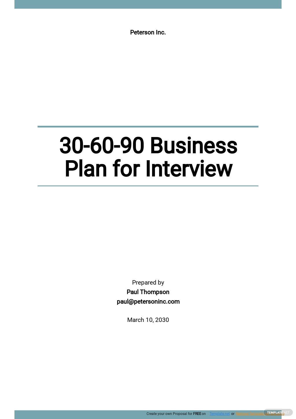 30 60 90 Business Plan For Interview.jpe