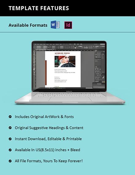sample company catalog format