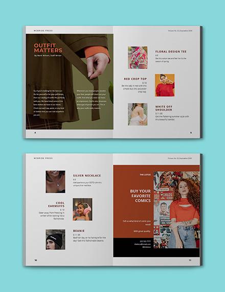 sample company catalog template printable